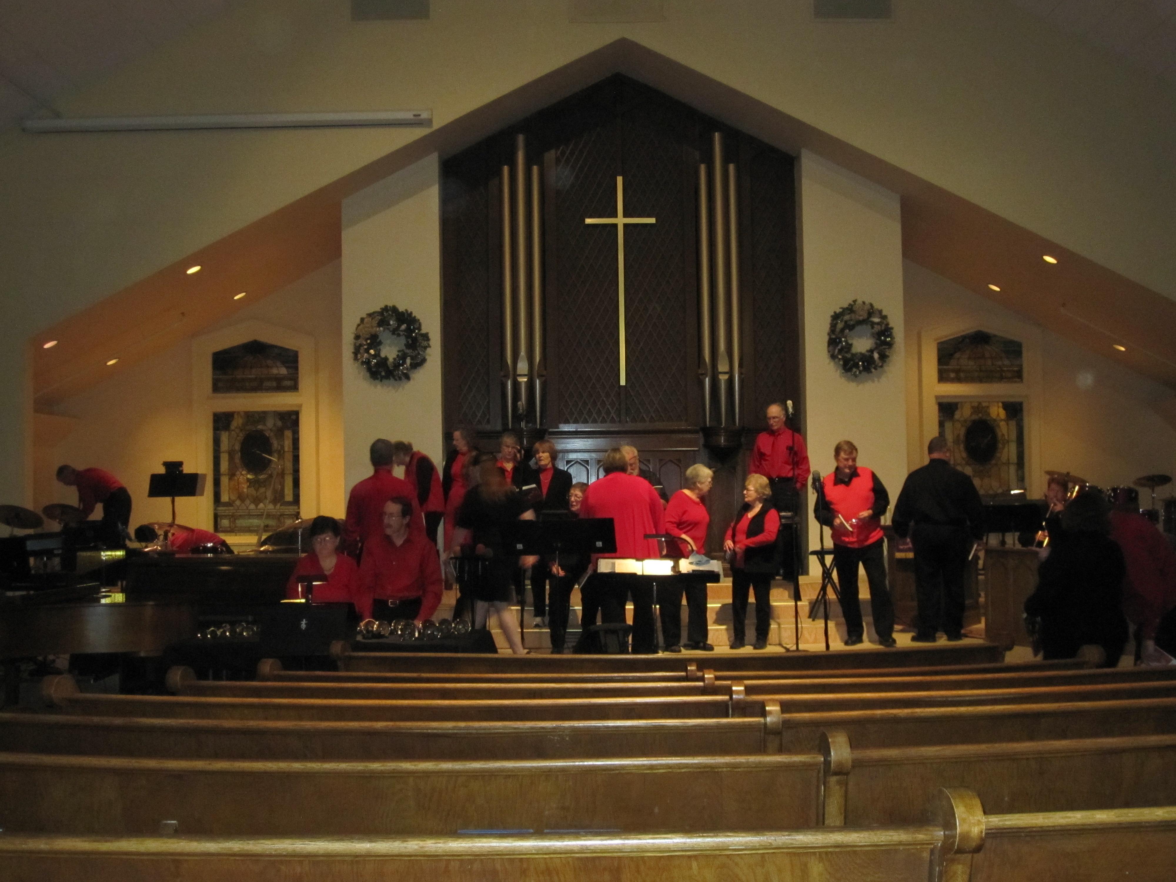Set up at !st Presbyterian